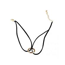 Women Girls Punk Double-layer Ring Black Velvet Choker Necklace