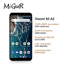"Xiaomi A2 4000mAh4GB 64GB Mobile Phone 5.84"" Full Screen Snapdragon 625 AI Dual Cameras Android 8.1"