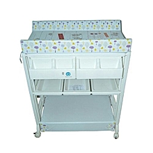 5in1 Bathing Tub with a Changing Table - White