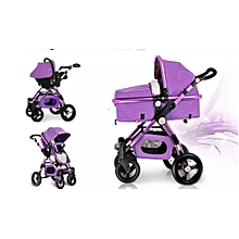 3 in 1 Baby Stroller High View purple Foldable Baby Trend Stroller