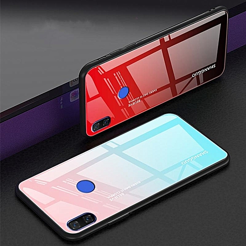 best sneakers 97870 de254 Gradient Glass For Xiaomi Mi 8 Case Tempered Glass Case Full Coverage Cover  For Xiaomi Mi 8 Casing 691907 (Pink)