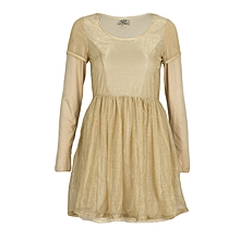 Golden Lace girl dress