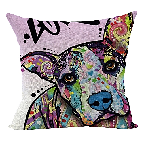 Africanmall store Cute Cat Sofa Bed Home Decoration Festival Pillow Case Cushion Cover-As shown