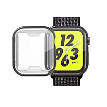 Full Coverage Plating TPU Case for Apple Watch Series 4 40mm (Black)
