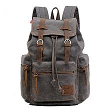 AUGUR New Fashion Men's Backpack Vintage Canvas Backpack School Bag Men's Travel Bags Large Capacity Travel Backpack Camping Bag(Grey)