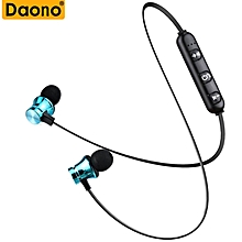 Metal Sports Bluetooth Wireless Earphone With Mic Magnetic in ear Magnetic Bluetooth Earbuds Headset For Mobile Phone
