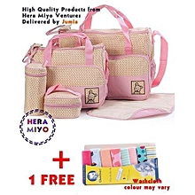 Stylish Waterproof Multi Pockets Large Capacity Baby Diaper Bag with Wash Cloth