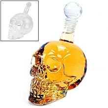 Crystal Glass Skull Bottle for Vodka & Whiskey & Beer Liqueur & Red Wine & Other Beverage, 350ML