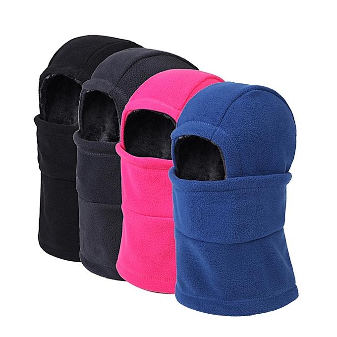 Unisex Full Face Mask Fleece Cap Neck Warmer Hood Plush Lining Winter  Sports Multifunctional Ski Hat ... 1fab8130e181