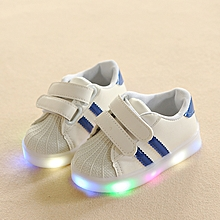 Baby unisex LED shining shell two whippletree sneaker blue