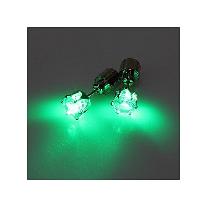 1 Pcs Light Up Led Blinking Earrings Studs Dance Party Accessories 6 Color New