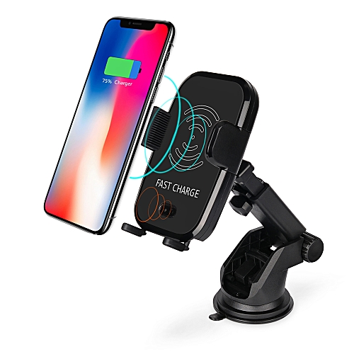 51a009c9dfc ... Charge Vehicle-Mount Automatic Infrared Sensor Suction Qi Wireless  Charging Pad Car Phone Holder Charger for iPhone X 8 Samsung Galaxy S8 Note  8 S9 Plus
