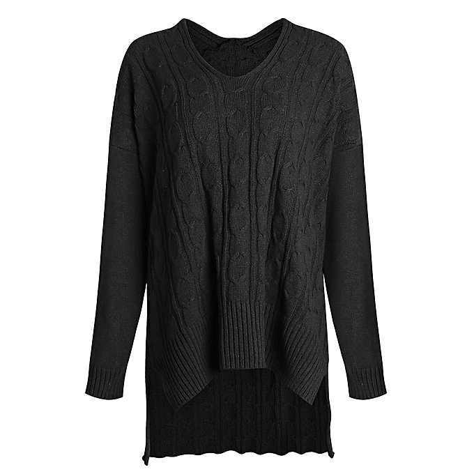 aee19720e Generic Women Casual V Neck Loose Fit Knit Sweater Pullover Top ...