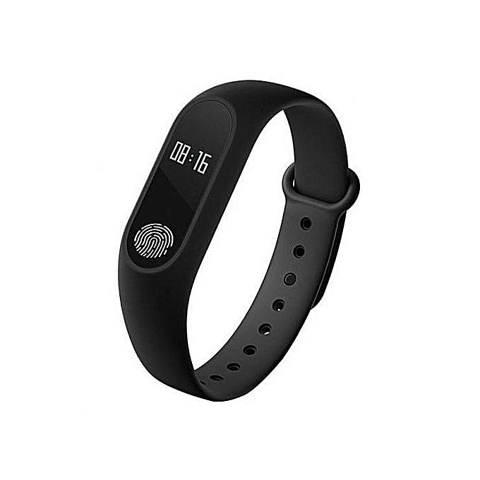 Professional M2 Smart Wristband Fitness Heart Rate Monitor Smart Bracelet Watch - Black