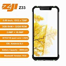 """ZOJI Z33 4G 5.85"""" 3GB RAM + 32GB ROM Android 8.1 4600mAh"""