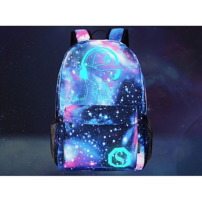 ... guoaivo Galaxy School Bag Backpack Collection Canvas USB Charger for Teen  Girls Kids 776f8c44c0
