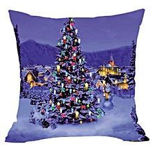Merry Christmas Pillow Cases Super Cashmere Sofa Cushion Cover Home Decor