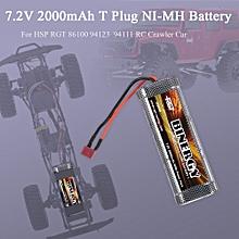 7.2V 2000mAh NI-MH Battery T Plug for HSP RGT 86100 94123 94111 RC Crawler Car Climbing Car