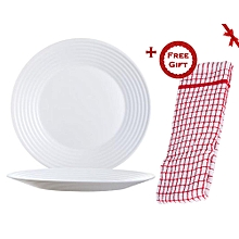Harena Dinner Plates 25cm - Set of 6 (+ Free Gift Hand Towel).