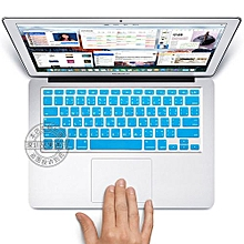 """13"""" Air Skin, US Type Thai Silicone Keyboard Cover For 2008-2015 Macbook 13.3"""" 15"""" Pro Reitna/Imac G6, Light Blue"""