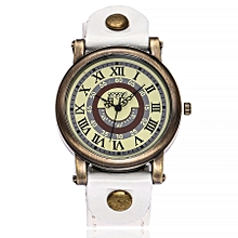 CCQ Women's Casual Quartz Leather Band Newv Strap Watch Analog Wrist Watch-White