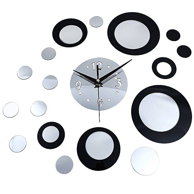Generic creative round diy mirror wall clock stickers home for Home decorations on jumia