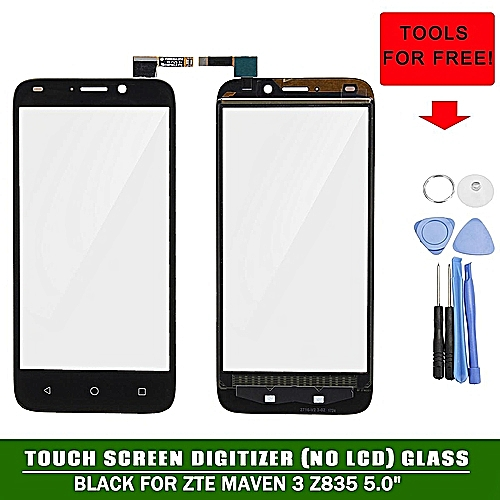 Touch Screen Digitizer Panel (No LCD) + Tools For ZTE Maven 3 Z835 5 0''  Black