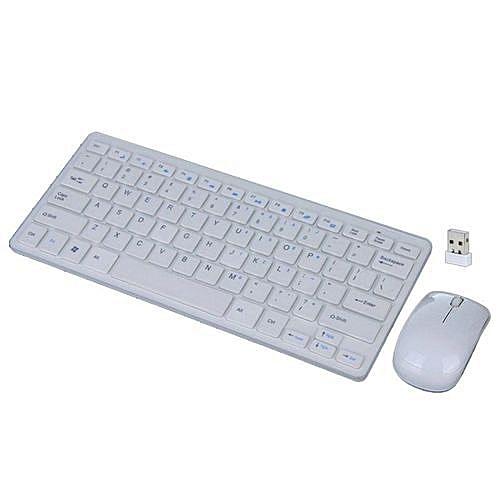 28a4dc9ac4b Generic Wireless mini Keyboard & Mouse Combo - White @ Best Price ...