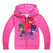 1-8 Yrs Girl's 95-135cm Body Height Thin Cotton Tops Sweater Hoodies(Color:Red)