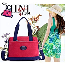 f16e8c8b7b18 Kisnow Korean Fashion Waterproof Soft Light Nylon Handbag Top-Handle Bags( Color Red
