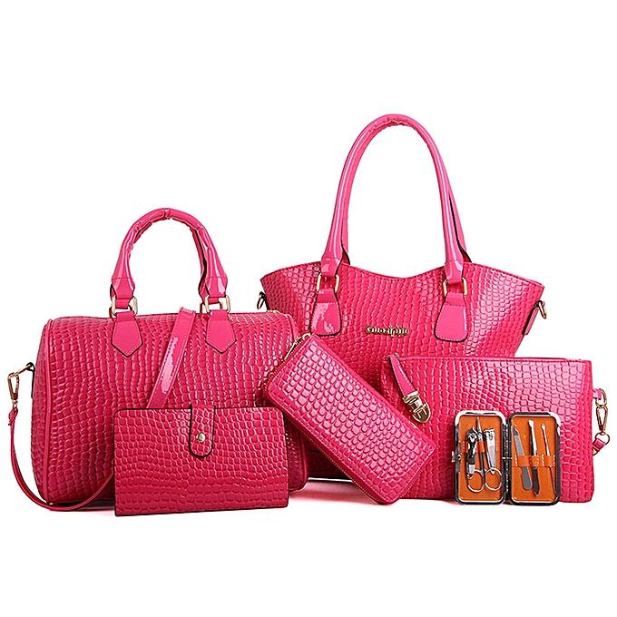 4988ee1921c koaisd Women Six Set Fashion Handbag Shoulder Bags Six Pieces Tote Bag  Crossbody PK