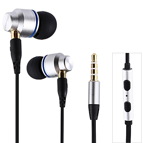 JBMMJ SUR S530 3.5MM Dynamic Stereo Super Bass Earphones In-ear with Microphone - SILVER
