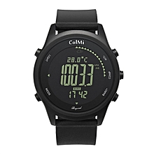 ColMi Beyond Smart Watch Waterproof Passometer Step Calories Distance Pressure Black band