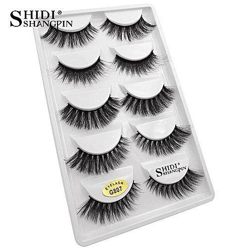 92f46761fac Generic 3D mink lashes false eyelashes natural long handmade volume mink  eyelashes 100% Cruelty free Lashes makeup cilio faux cils(G807)