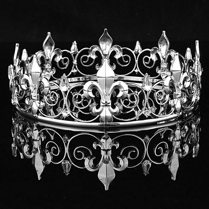 ... Jewelry AccessorIes Silver · Hot Vintage Baroque Tiara King Crown  Luxury Golden White Wedding Party Pageant Headbands Bridal Queen Hair eefa019ec9c8