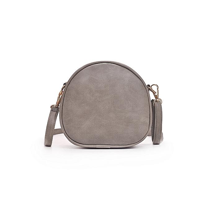 6dc3f129c4 Generic Fashion Women Deer Shoulder Bag PU Leather Circle Mini Crossbody  Bag Messenger Handbag Black Grey Pink