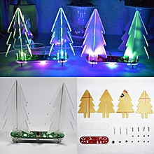 Geekcreit® DIY Full Color Changing LED Acrylic 3D Christmas Tree Electronic Learning Kit Type D