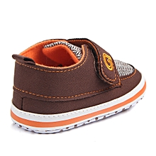 Newborn Baby Boys Infant Toddler Lace-Up Canvas Soft Sole Anti-slip Shoes YE/11-Yellow