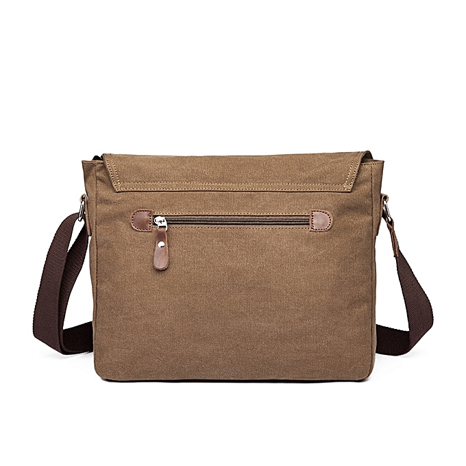006cc49de711 Fashion Men Canvas Shoulder Bag Casual Messenger Bag Retro Laptop Bag