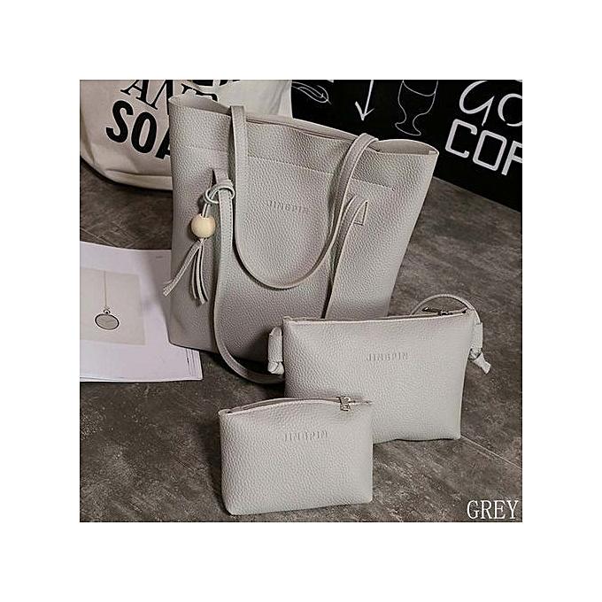 8f8d1acf993f 3Pcs/Set Fashion Handbags Purse Women Messenger Bags Office Lady Shoulder  Bags Casual Tassel Tote Bag