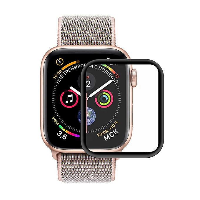 the best attitude 5479d 4519b ENKAY Hat-Prince 3D Full Screen Electroplating PET Curved Heat Bending HD  Screen Protector for Apple Watch Series 4 40mm (Black)