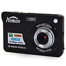 CDC3 2.7 Inch TFT Screen 18.0MP CMOS 5.0MP Anti-shake Digital Video Camera with 8X Digital Zoom-BLACK