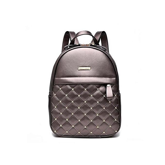 Fashion Women Girl PU Leather Backpack Rucksack Travel School Shoulder Bag  Purse 313a4822ff741
