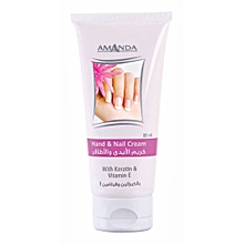 Hand & Nail Cream With Keratin & Vitamin E - 80ml.