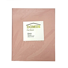 Flat Sheet - Queen - 230cm x 260cm - 144 Polycotton - Pink
