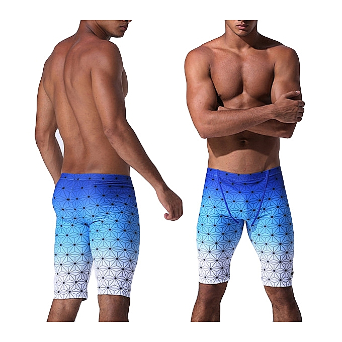 Buy Fashion Mens Quick Drying Gradient Color Knee Length