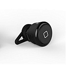 Handfree headsets, YE-106T Bluetooth Super Bass Earphones Noise Cancelling Bluetooth Headset Wireless Single Earbud Sports Bluetooth Headset Earphones(Black)
