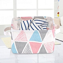 Foldable Fabric Convenient Storage Laundry Box Basket Keep Table Tidy Decor Colorful Triangle