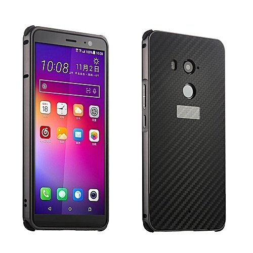 new styles 602a9 cf449 Luxury Metal Case For HTC U11 Plus + / U11Plus Aluminum Frame & Carbon  Fiber Back Cover Shockproof Shell Capa Mobile Accessories Phone Cases  (Black)