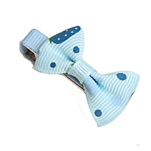 Girls Hair Clips Ribbon Bow Kids Strawberry Satin Bowknot Hairpin Blue